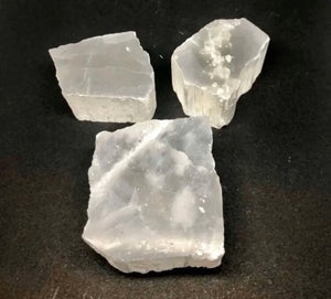 Selenite Slabs from Morocco 3pcs 14ozs total FREE SHIPPING