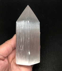 Selenite Crystal Point from Morocco 253g Approximately 4in FREE SHIPPING