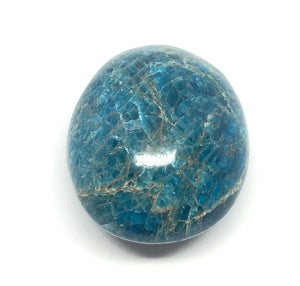 Blue Apatite Palm Stone from Madagascar 197g FREE SHIPPING