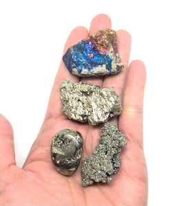 Pyrite & Chalcopyrite Stones (4pcs) Awesome Set!