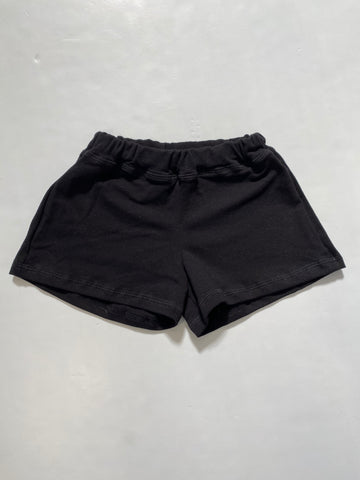 Black French Terry Panel Shorts