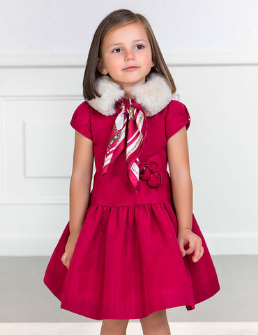 Raspberry Taffeta Dress
