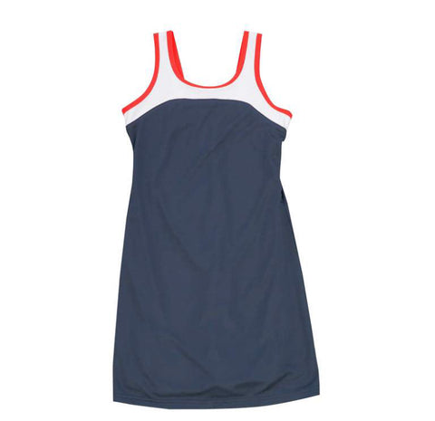 Red, White & Navy Tank Dress