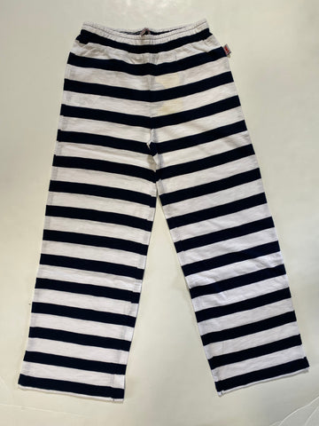 Stripe Navy Knit Pants