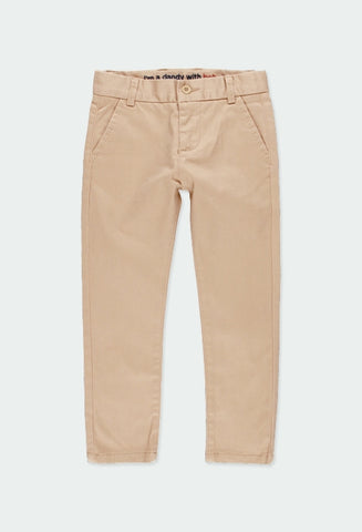Beige Stretch Satin Pants