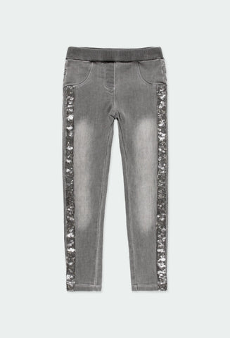 Sequins Grey Pants