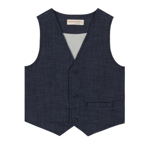 Denim Tailored Vest