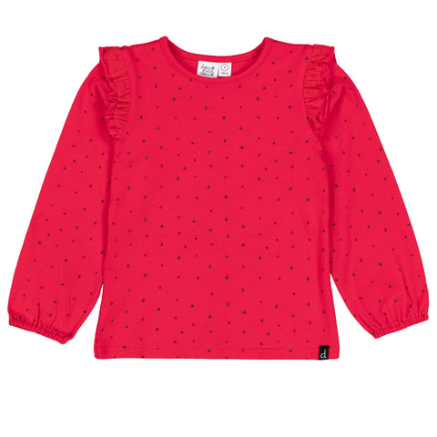 Red Jersey Top w/ Star Print
