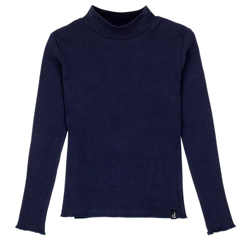 Navy Rib Turtle Neck