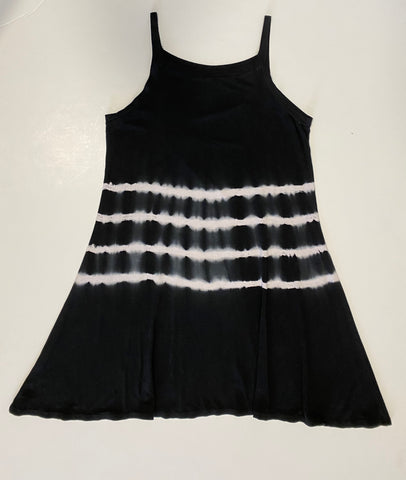 Tie Dye Black & White Cami Dress
