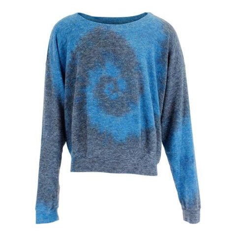 Grey/Blue LS Ombre Top