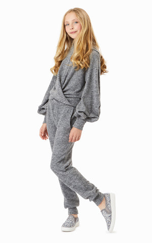 Dark Grey Twist Hatchi Jogger