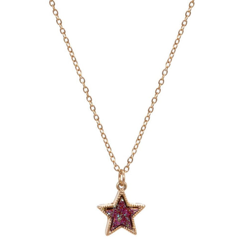 Burgendy Star Pendant Necklace