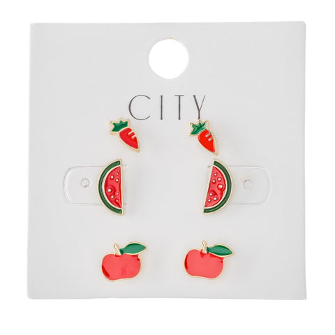 Carrots, Watermelons & Apples Earrings
