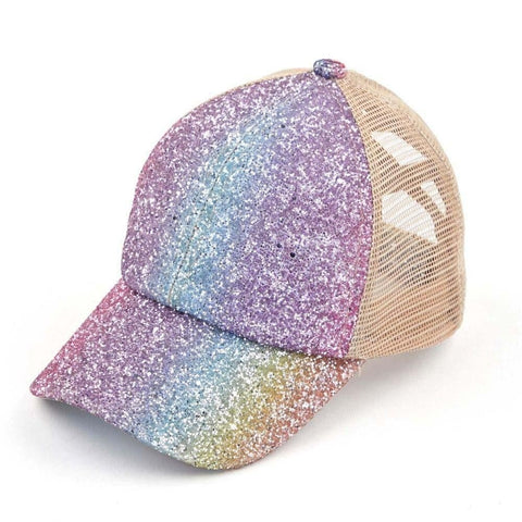 Glitter Criss Cross Trucker Hats