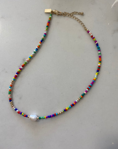Multicolor Seed Bead Necklace
