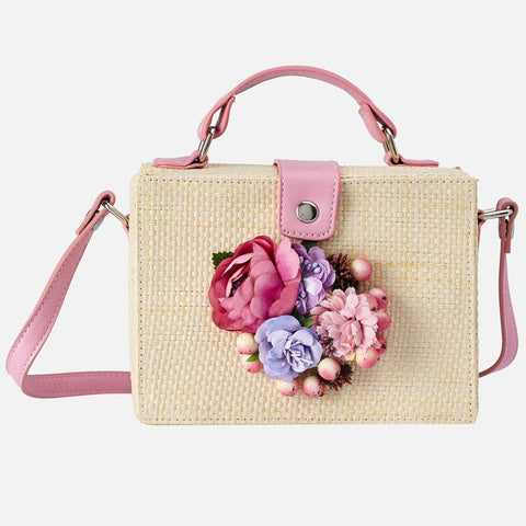 Hollyhock Flower Handbag