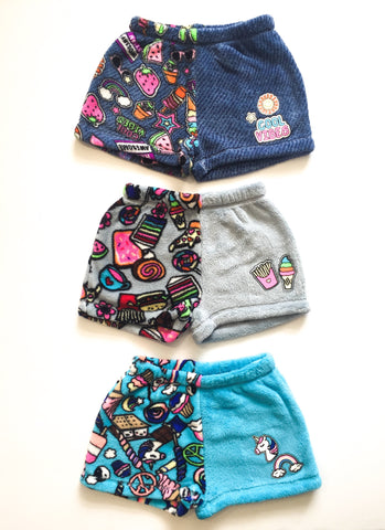 Plush Shorts Lounge Wear