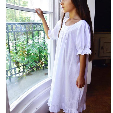 White Embroidery Nightgown
