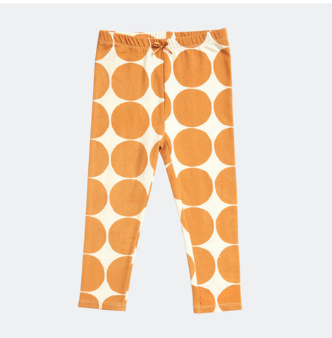 Gold Oversize Dot Organic Legging