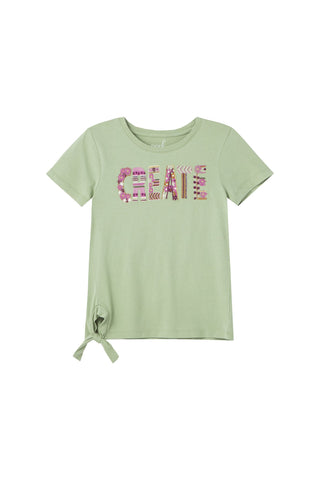 Green Create Knot Tee