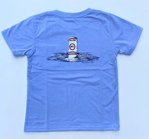 Light Blue No Wake Tee