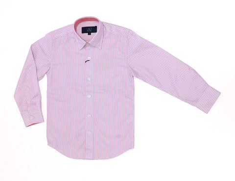 Oxford Blue/Red Stripe L/S Shirt