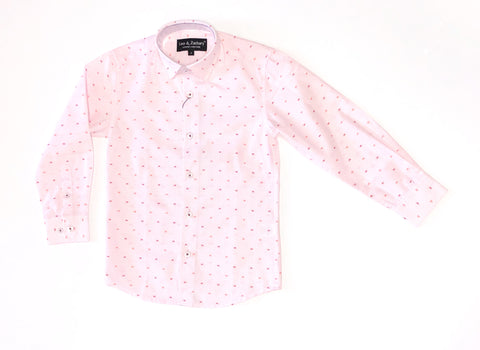 Pink/Wine L/S Dress Shirt