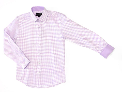 L/S Thick Window Dress Shirt Lilac
