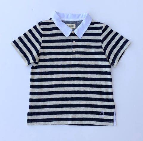 Stripe Polo Navy