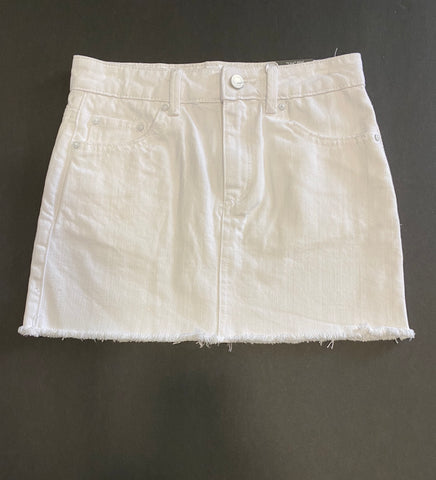 White Basic Mini Skirt