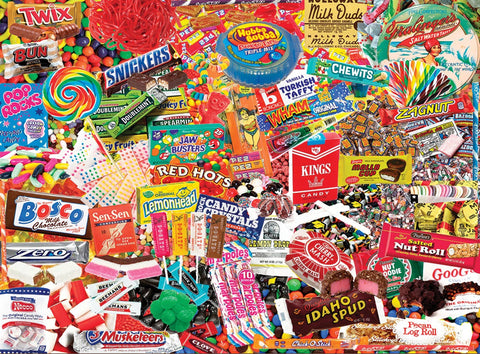 Old School Candy 550 Piece Puzzle