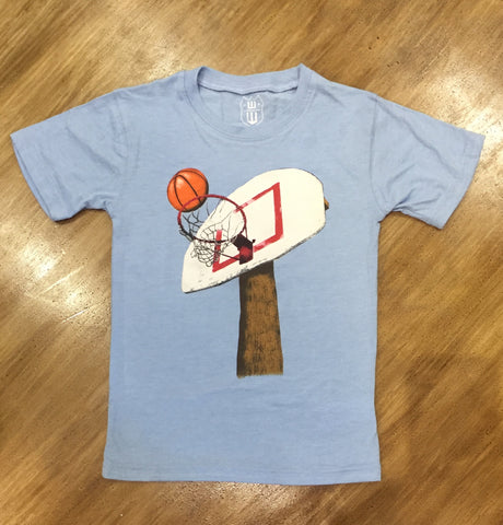 Blue Basketball Hoop Tee