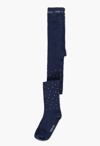 Navy Thick Tights With Sparkle