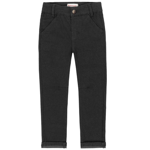 Black Denim Twill Pant