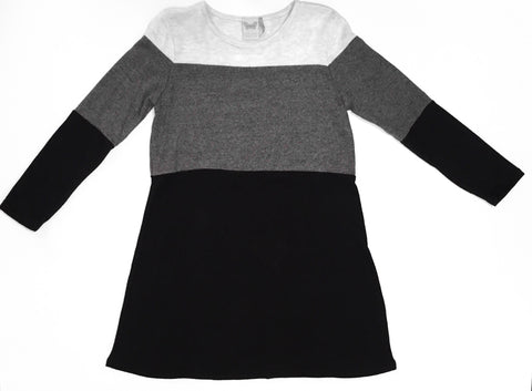 Black/Grey Block Brushed Dress