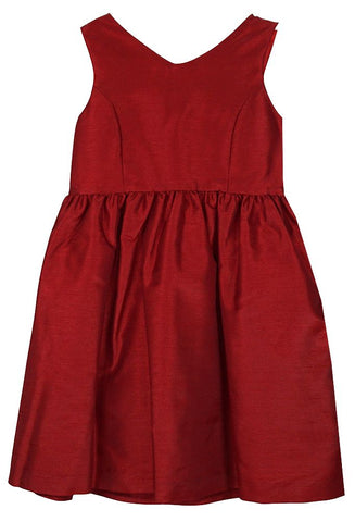 Red Taffeta Bow Dress