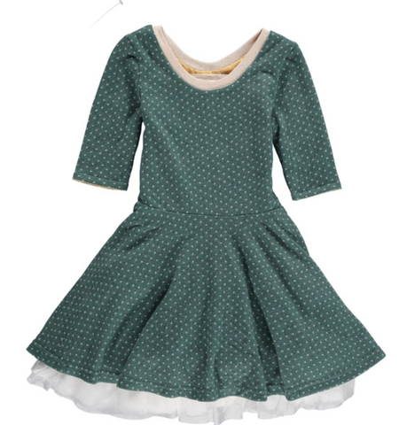 Reversable Green Dot Dress