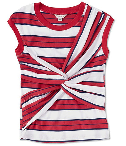 Red Weston Dront Twist SS Top