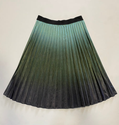 Olive Mutli Ombre Pleated Skirt