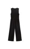 Black Front Zip Jumpsuit