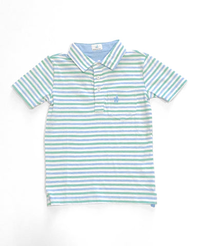 Palmetto StripeThree Button Polo