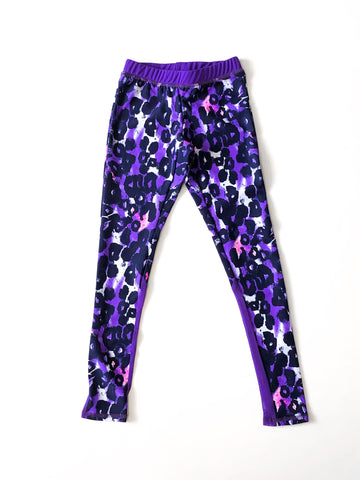 Cool Cat Legging With Mesh Back Purple