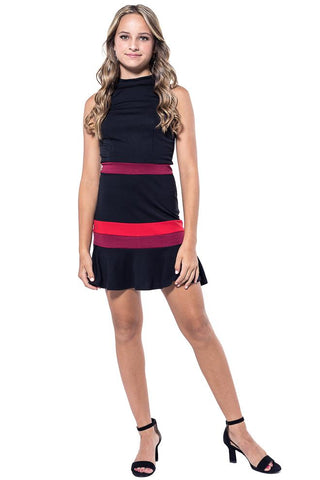 Harriet Color Block Fit and Flare Dress