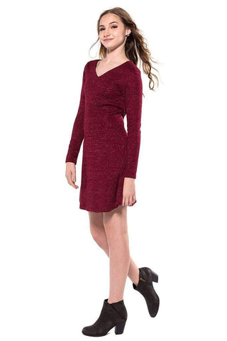 Estelle Red L/S Dress