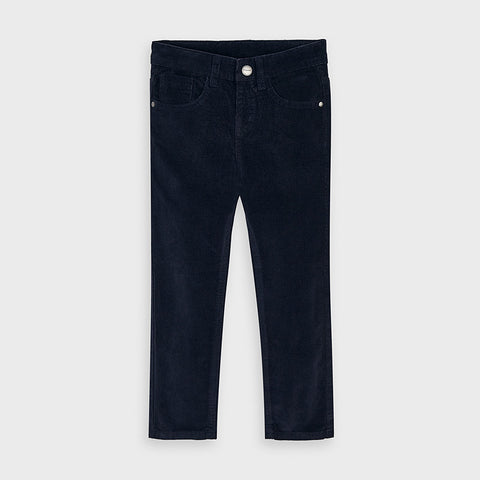 Deep Blue Cord Trousers