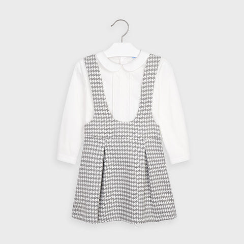 Houndstooth skirt and Blouse Set
