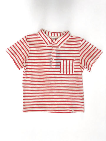 Stripe Polo Red
