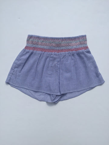 Blue Stripe Smock Shorts