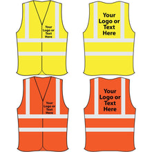 Load image into Gallery viewer, HI-VIZ VISIBILITY SAFETY VEST WAISTCOAT WORK WEAR